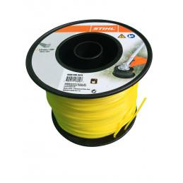 Fil débroussailleuse nylon carré 3mm/168m jaune 9302619 STIHL