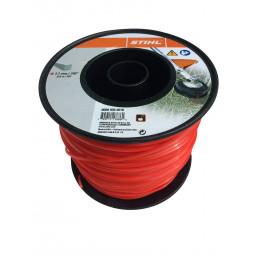 Fil débroussailleuse nylon carré 2,7mm/215m rouge 9302616 STIHL