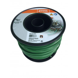 Fil débroussailleuse nylon carré 4mm/90m 9303612 vert foncé STIHL