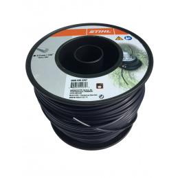 Fil débroussailleuse nylon rond 3.3mm/145m noir 9302287 STIHL