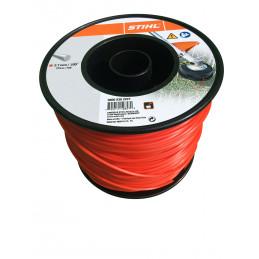 Fil débroussailleuse nylon rond 2.7mm/215m rouge 9302227 STIHL