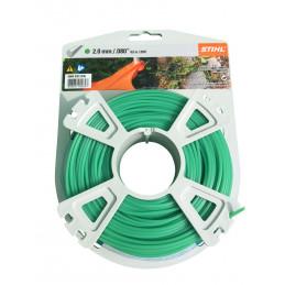 Fil débroussailleuse nylon rond 2mm/62m vert 9302336 STIHL