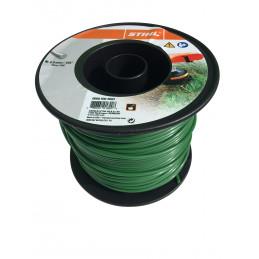 Fil débroussailleuse nylon rond 4mm/90m vert foncé 9303603 STIHL