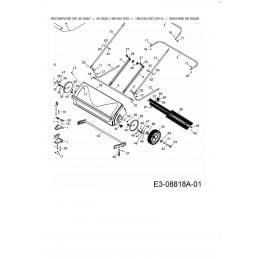 Axe support de brosse pour balai ramasseur de feuille Smart Sweep 107 cm modèle 45-0492 , AF40722, AF-40722