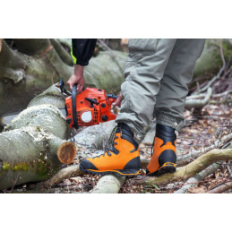 HAIX Chaussure CL2 T45,5 FOREST ANTICOUPURE ORANGE 603101105