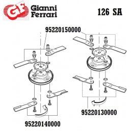 Kit de 2 lames gauches inférieures, Gianni Ferrari / Bieffebi 95220130000