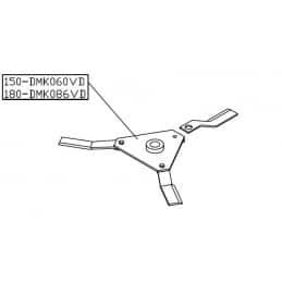 Palier de lame, support de lame, Gyrobroyeur Delmorino DMK150/3, DMK060VD