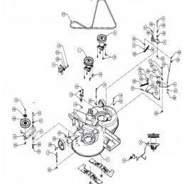 MTD PLATEAU DE COUPE NOIR COMPLET 105CM EJ. ARRIERE LT-5, 913070003S, 913-070003-S