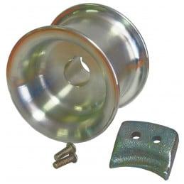 Tambour cabestan 85 mm avec guide corde + 2 boulons PORTABLE WINCH