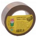 Adhesif pvc 50 mm x 100 m havane GECOSAC