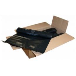 Carton 100 sacs poubelle noir 150L 80X135 80 microns